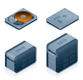 Os ícones da ferragem de computador ajustados - projete os elementos 55d Imagens de Stock Royalty Free