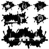 Os ícones da indústria petroleira Imagens de Stock