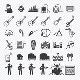 Os ícones da música ajustaram 2 Fotografia de Stock Royalty Free