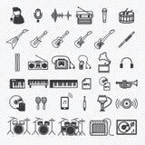 Os ícones da música ajustaram 1 Fotos de Stock