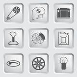 Os ícones da peça e do serviço do carro ajustaram 2. Fotografia de Stock Royalty Free