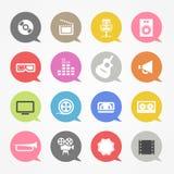 Ícones da Web dos meios ajustados