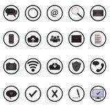 Os ícones da Web e da site móvel ajustaram o efeito de sombra Fotografia de Stock Royalty Free