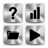 Os ícones da Web em botões metálicos ajustaram vol 9 Imagem de Stock Royalty Free