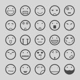 Os ícones das caras do smiley ajustaram a ilustração eps10 Fotografia de Stock Royalty Free