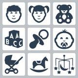 Os ícones das crianças do vetor 'ajustados Foto de Stock