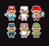 Os ícones das profissões ajustaram-se industrial Imagens de Stock