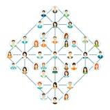 Os ícones de conexão dos povos ajustaram-se isolado no fundo branco Fotografia de Stock Royalty Free