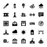 Os ícones de UI embalam ilustração royalty free