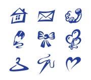 Os ícones dirigem o feriado Fotografia de Stock