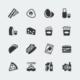 Os ícones do alimento do vetor ajustaram #2 Fotografia de Stock Royalty Free