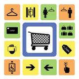 Os ícones do centro comercial ajustaram 2 Fotografia de Stock Royalty Free