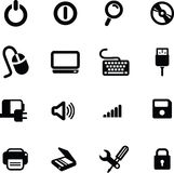 Os ícones do computador ajustaram 01 Foto de Stock