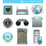 Os ícones do computador de vetor ajustaram 5 Foto de Stock