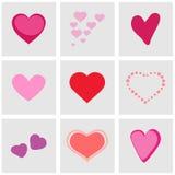 Os ícones do coração ajustaram-se grande para todo o uso Vetor eps10 Imagem de Stock Royalty Free