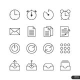 Os ícones do escritório & do negócio ajustam-se - Vector a ilustração ilustração stock