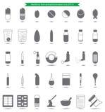Os ícones do formulário da medicina ajustaram-se para a farmácia e médico Imagens de Stock Royalty Free