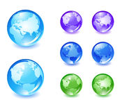 Os ícones do globo ajustaram 2 Foto de Stock
