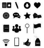 Os ícones do Internet ajustaram-se Imagem de Stock Royalty Free