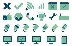Os ícones do Internet ajustaram-se Ilustração Stock