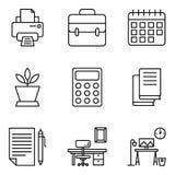 Os ícones do local de trabalho embalam ilustração do vetor