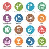 Os ícones do negócio ajustaram 2 - Dot Series Imagem de Stock Royalty Free