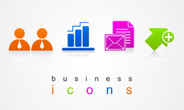 Os ícones do negócio ajustaram o logotipo dos botões do Web site Fotos de Stock