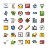 Os ícones do negócio e da finança embalam ilustração stock