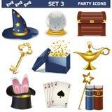 Os ícones do partido do vetor ajustaram 3 Foto de Stock