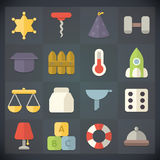 Os ícones do plano universal para a Web e o móbil ajustaram 14 Fotografia de Stock Royalty Free