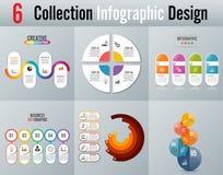 Os ícones do projeto e do mercado de Infographic podem ser usados para a disposição dos trabalhos, diagrama, informe anual, desig Fotografia de Stock