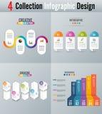 Os ícones do projeto e do mercado de Infographic podem ser usados para a disposição dos trabalhos, diagrama, informe anual, desig Imagens de Stock