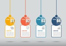 Os ícones do projeto e do mercado de Infographic podem ser usados para a disposição dos trabalhos, diagrama, informe anual, desig Fotos de Stock