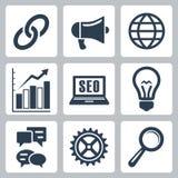 Os ícones do seo do vetor ajustaram #1 Imagem de Stock Royalty Free