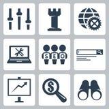 Os ícones do seo do vetor ajustaram #3 Imagem de Stock