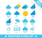 Os ícones do tempo ajustaram-se Foto de Stock Royalty Free