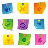 Os ícones do vetor ajustaram doze Foto de Stock Royalty Free