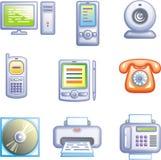 Os ícones do Web ajustaram a eletrônica do â (o vetor) Fotos de Stock