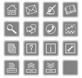 Os ícones do Web ajustaram no.2 - gray.2 Imagens de Stock