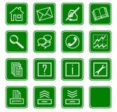 Os ícones do Web ajustaram no.2 - green.2 Imagens de Stock Royalty Free