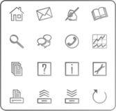 Os ícones do Web ajustaram no.3 - cinza Imagem de Stock