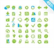 Os ícones do Web ajustaram-se Fotos de Stock