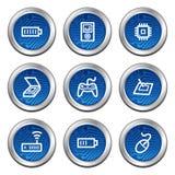 Os ícones do Web da eletrônica ajustaram 2 Foto de Stock