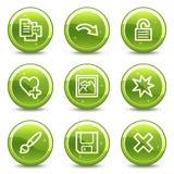 Os ícones do Web do visor da imagem ajustaram 2 Fotografia de Stock