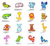 Os ícones dos animais ajustaram 3 Imagem de Stock