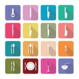 Os ícones dos aparelhos eletrodomésticos no projeto liso ajustaram 3 Imagens de Stock Royalty Free