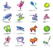 Os ícones dos esportes ajustaram 2 Fotografia de Stock Royalty Free