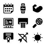 Os ícones dos esportes empacotam ilustração do vetor