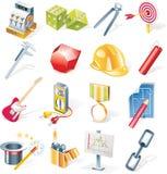 Os ícones dos objetos do vetor ajustaram-se. Parte 13 Imagem de Stock Royalty Free