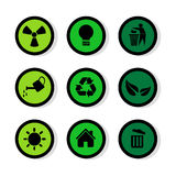 Os ícones dos sinais ajustaram-se grande para todo o uso Vetor eps10 Imagem de Stock